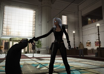 Micro transactions in video games. Black Cat holding hostage in bank