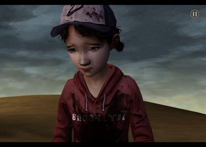 Clementine walking alone in Walking Dead Episode 5