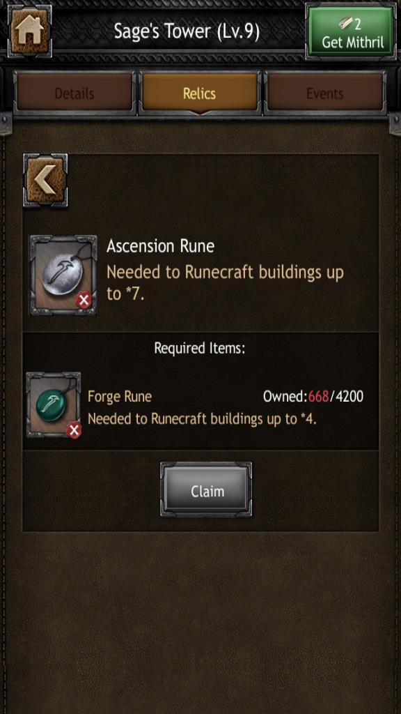 Ascension Runes