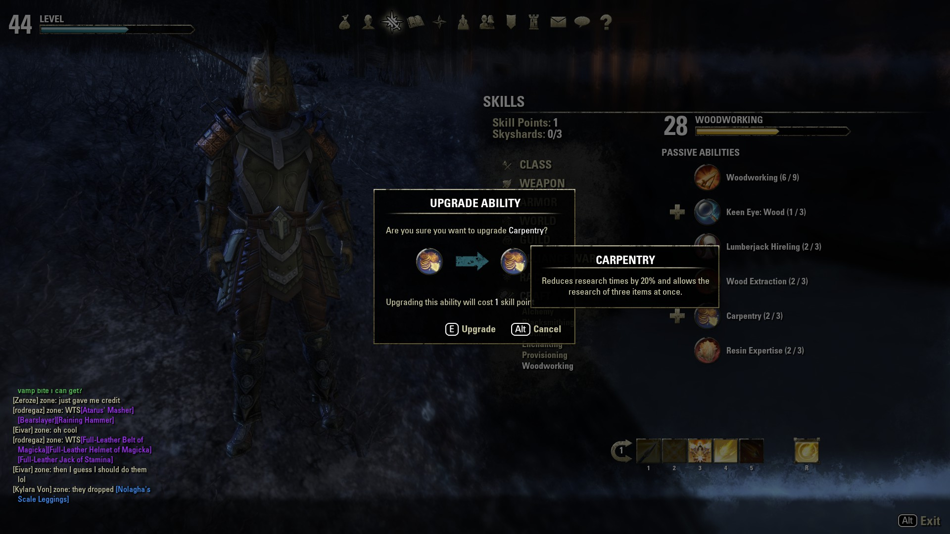 Eso Crafting Skills Max Level