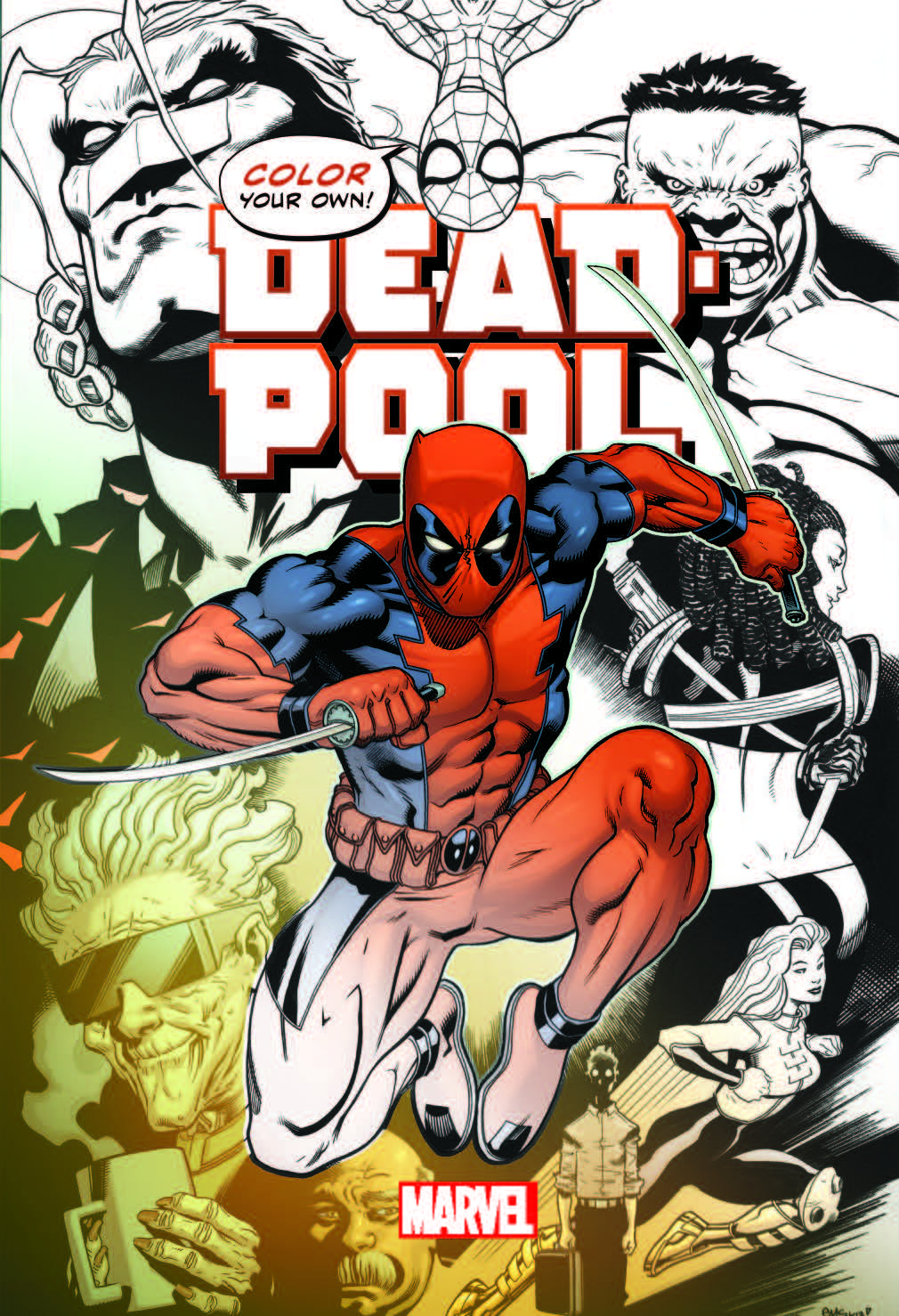- Color Your Own Deadpool Coloring Book - Hulking Reviewer